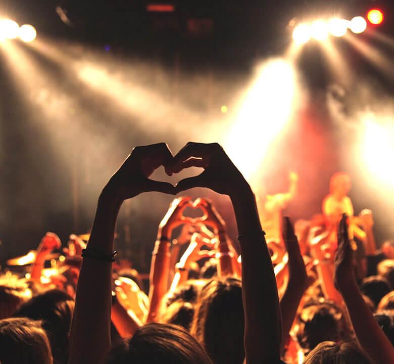Musikgeschäft mit Liebe und Leidenschaft